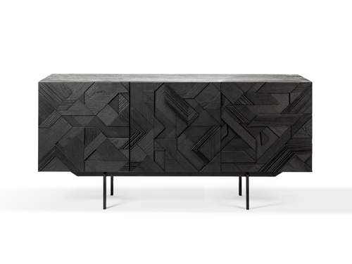 Teak graphic black dressoir 3 d