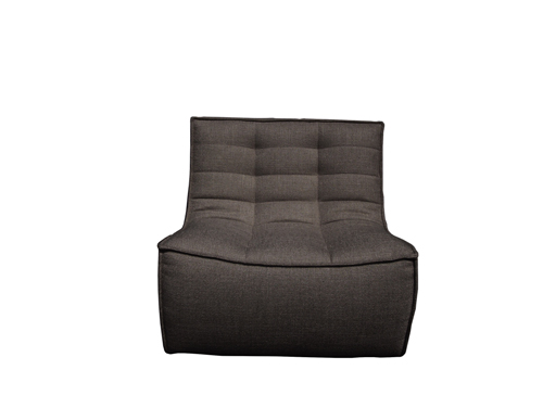 Sofa 1 seater donkergrijs N701